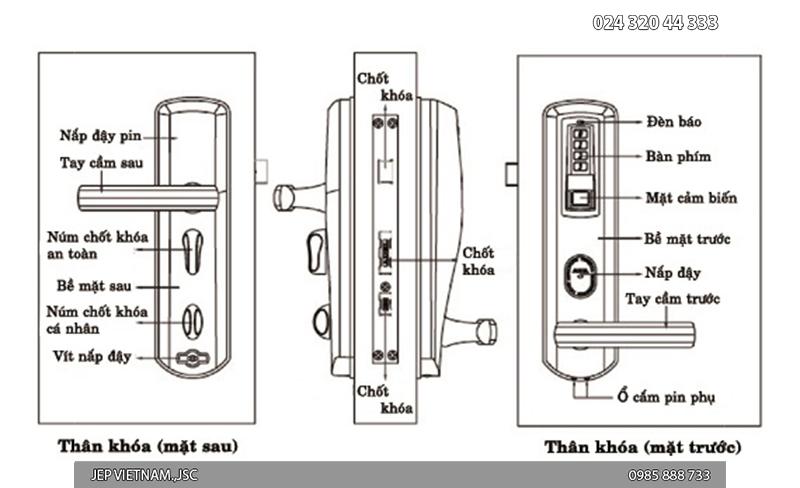 Khóa cửa vân tay Adel-8908 - ảnh 4