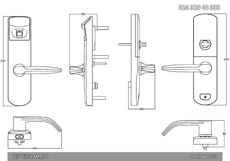 Khóa vân tay và điều khiển từ xa US3-6 - ảnh 4