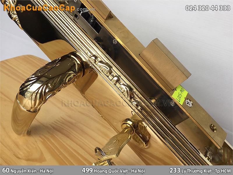 Khóa cửa gỗ cao cấp Amatop L-005-PVD - ảnh 3