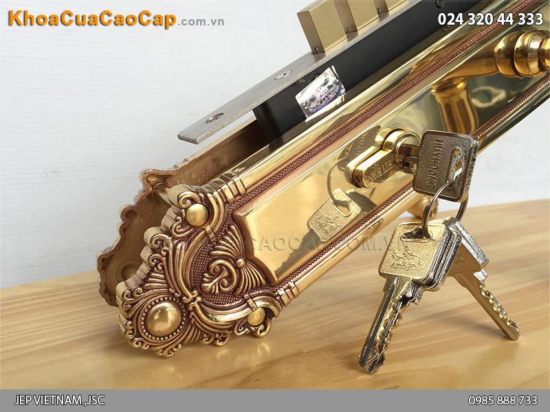 Khóa cửa đại sảnh bằng đồng HC8526 đại - 2