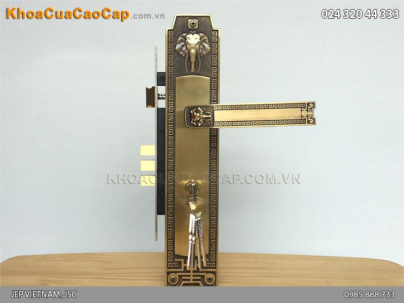 Khóa cửa đại sảnh Huy Hoàng HCR8528D - 6