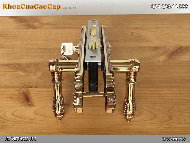 Khóa cửa tay gạt bằng đồng HC8524 - 5