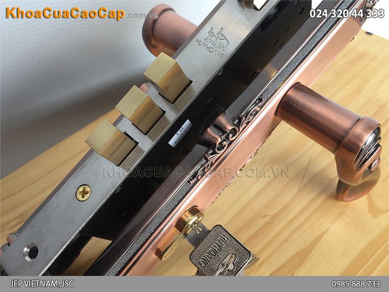Khóa cửa tay gạt Huy Hoàng EX 8531 - ảnh 3