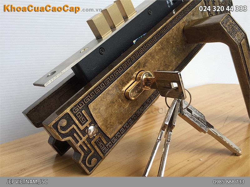 Khóa cửa tay nắm Huy Hoàng EX 8535 - ảnh 4