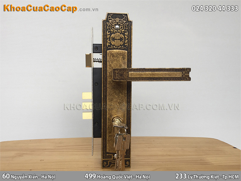 Khóa cửa tay nắm Huy Hoàng EX 8535 - ảnh 6