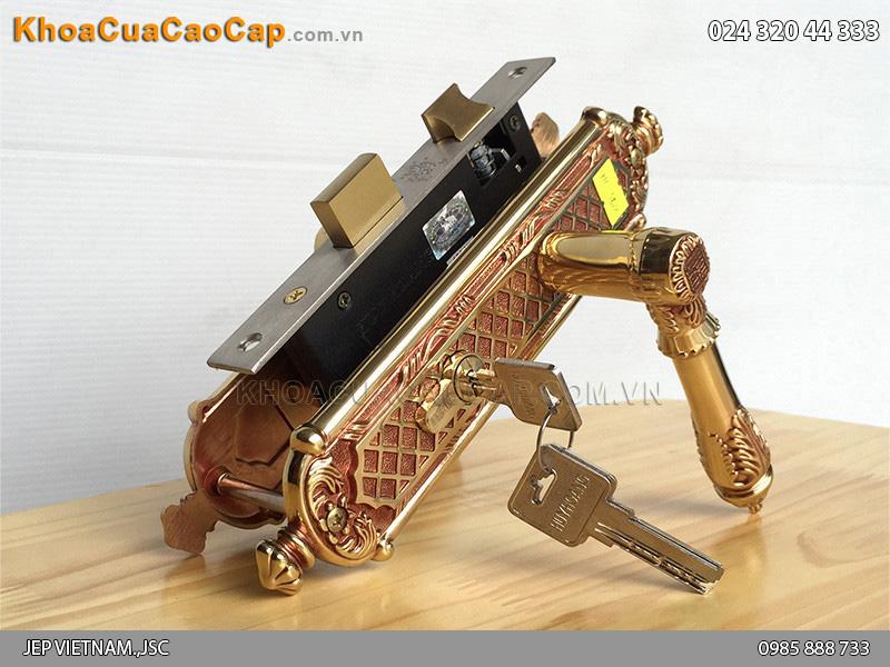 Khóa tay gạt bằng đồng cho cửa gỗ HC5821 - 1