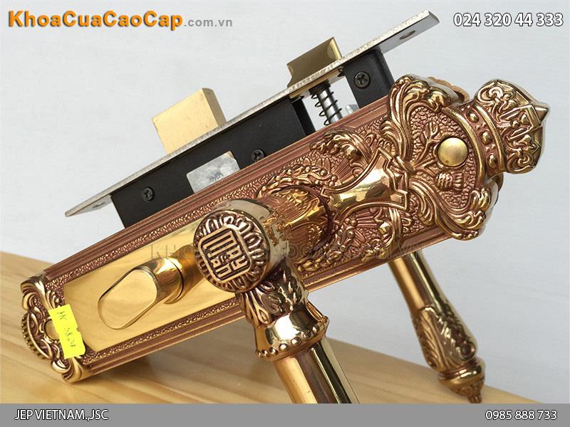 Khóa tay gạt bằng đồng HC5824 - 4