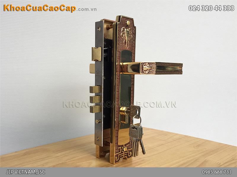 Khóa tay gạt cửa chính Huy Hoàng HC 8528 - ảnh 5