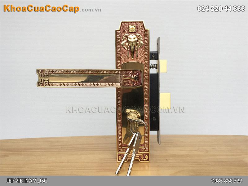 Khóa cửa tay gạt bằng đồng HC5828 - 1