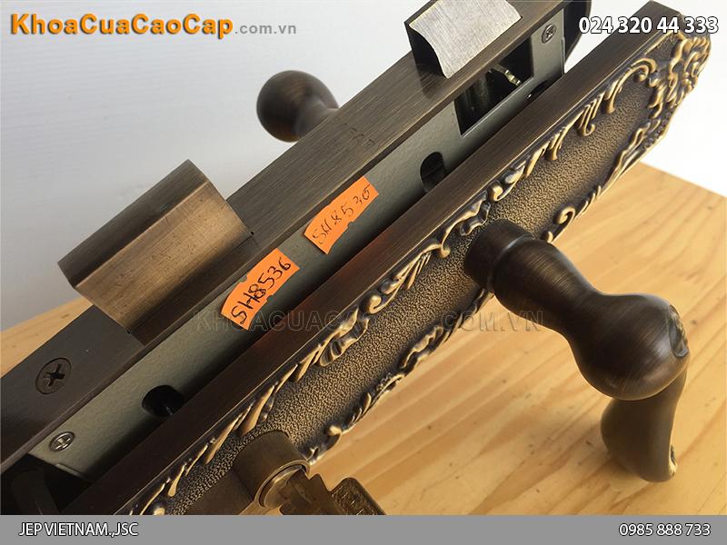 Khóa cửa gỗ bằng đồng SFA8536-SF ảnh 5