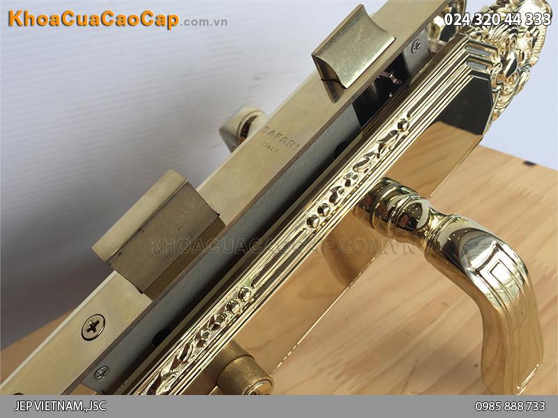 Khóa tay gạt cửa gỗ Safari 8522-PVD - ảnh 5
