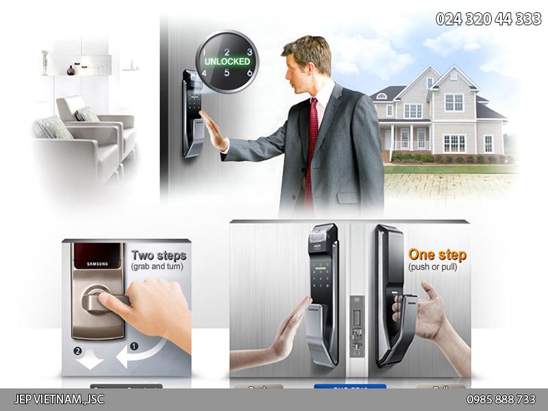 Đặc điểm khóa cửa vân tay Samsung SHS-P718 - ảnh 1
