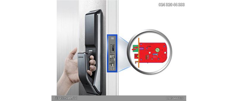 Đặc điểm khóa cửa vân tay Samsung SHS-P718 - ảnh 11