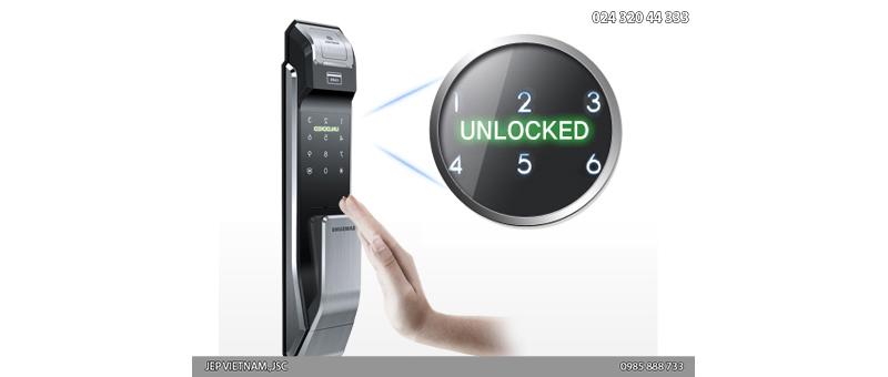 Đặc điểm khóa cửa vân tay Samsung SHS-P718 - ảnh 5