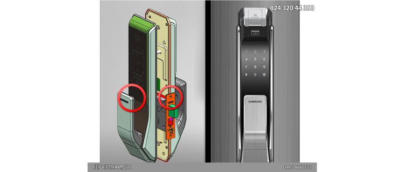 Đặc điểm khóa cửa vân tay Samsung SHS-P718 - ảnh 7