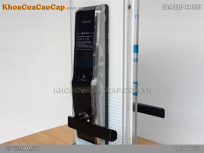 Khóa cửa vân tay Samsung SHS-H705 màu đen - ảnh 1