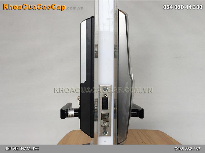 Khóa cửa vân tay Samsung SHS-H705 màu đen - ảnh 3