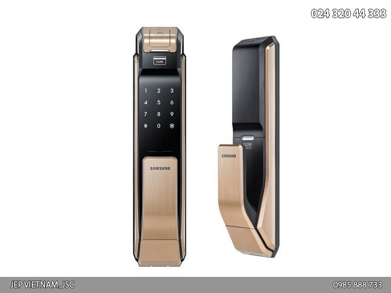 Khóa cửa vân tay Samsung SHS-P718 màu vàng hồng - ảnh 1