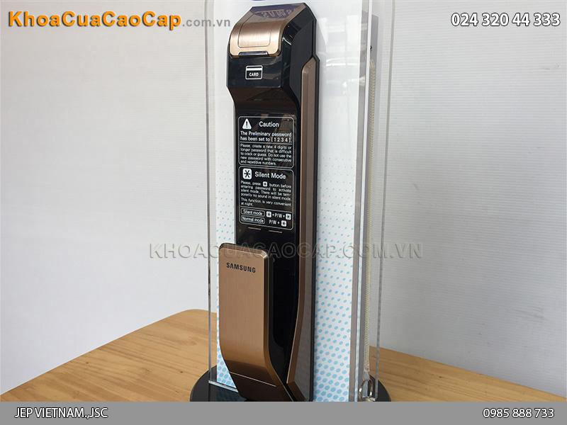 Khóa cửa vân tay Samsung SHS-P718 màu vàng hồng - ảnh 2