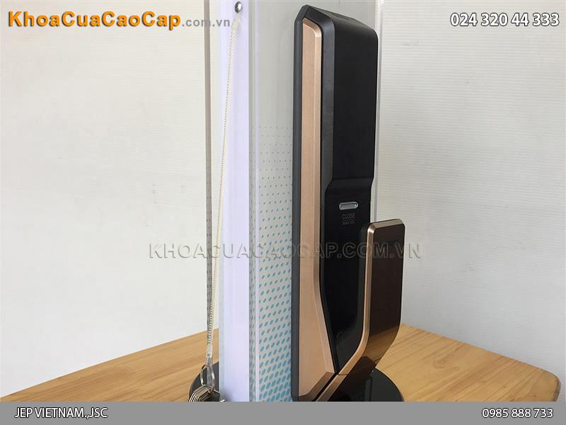 Khóa cửa vân tay Samsung SHS-P718 màu vàng hồng - ảnh 3