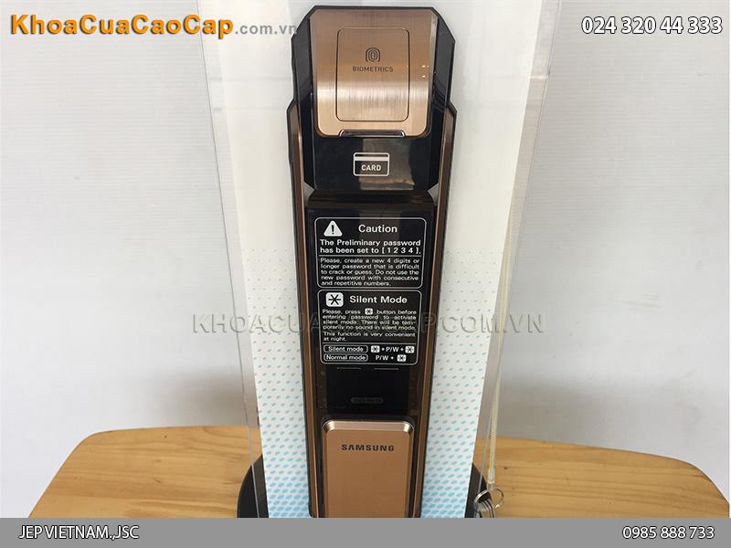 Khóa cửa vân tay Samsung SHS-P718 màu vàng hồng - ảnh 6
