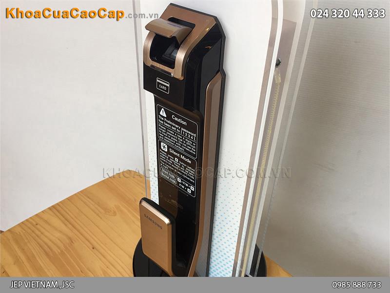 Khóa cửa vân tay Samsung SHS-P718 màu vàng hồng - ảnh 7