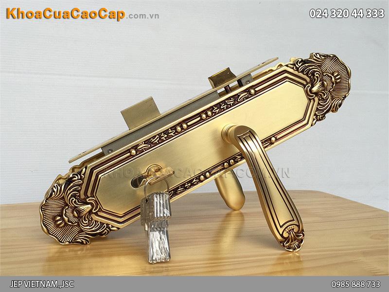 Khóa cửa chính bằng đồng vàng SFA8522-XL-RG