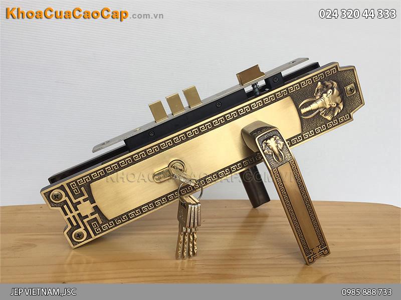 Khóa cửa đại sảnh Huy Hoàng HCR8528D