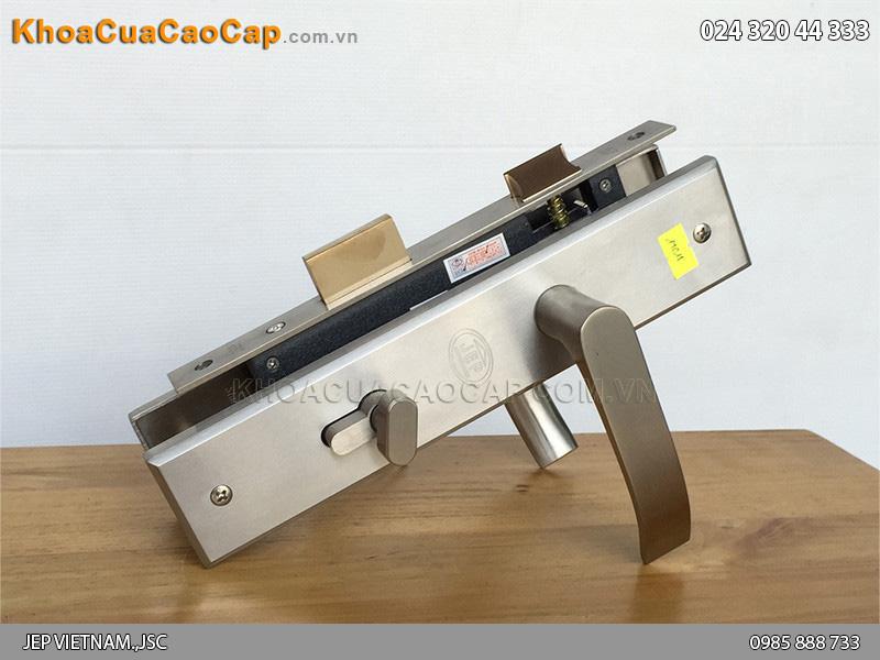 Khóa cửa gỗ tay gạt inox JEP MC15