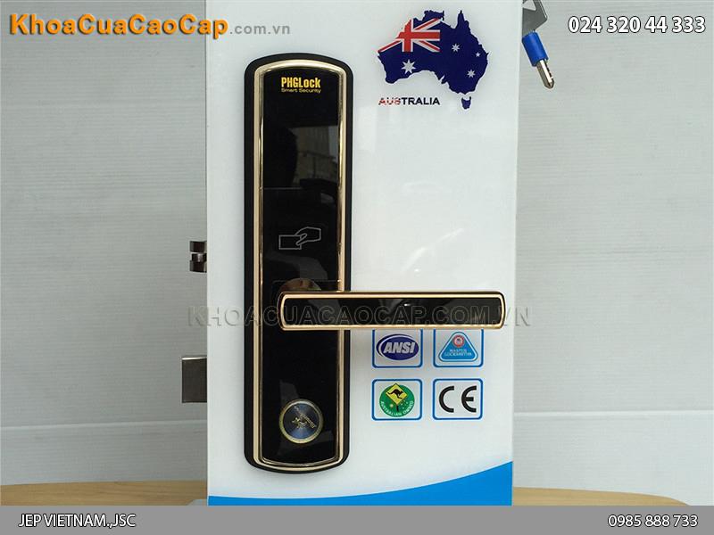 Khóa cửa mã số - thẻ từ PHGLock KR8010