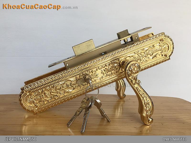 Khóa cửa mạ vàng nhập khẩu Italia Jardin-1560