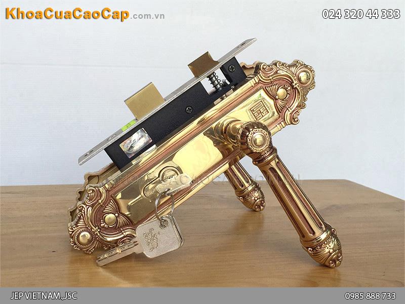 Khóa cửa tay gạt bằng đồng Con Voi HC5826