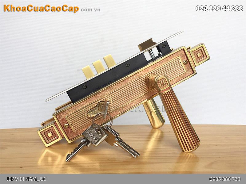 Khóa cửa tay gạt Huy Hoàng HC8522