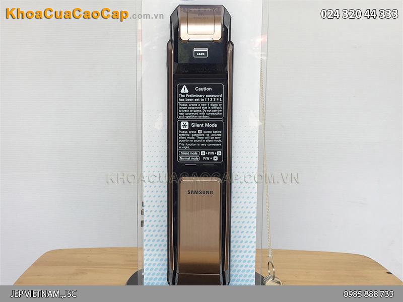 Khóa cửa vân tay Samsung SHS-P718 vàng