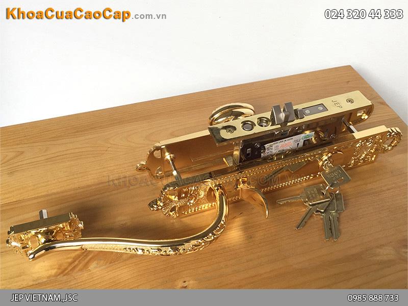 Khóa đại sảnh đồng mạ vàng JEP Goal LX