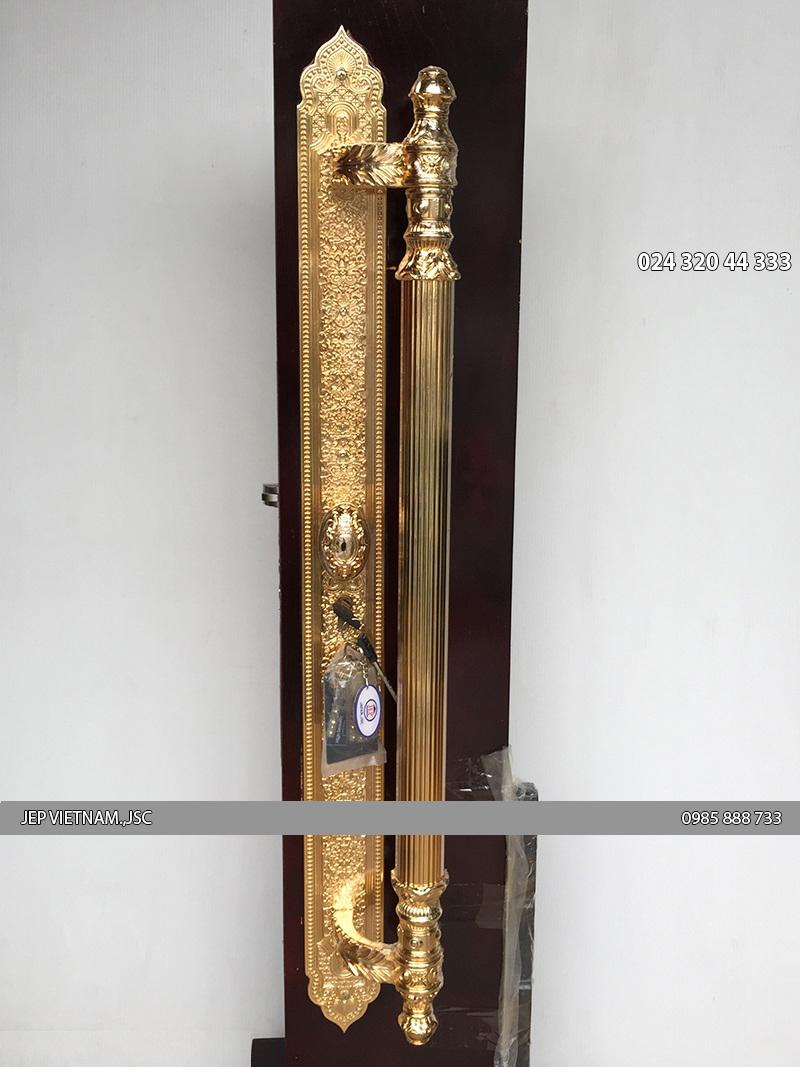 Khóa cửa đại sảnh mạ vàng JP-007-24K