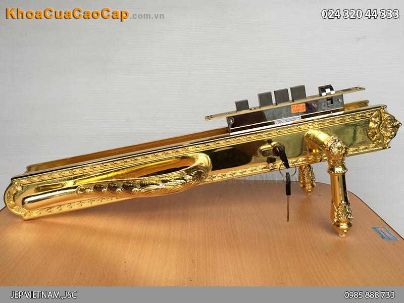 Khóa đồng đại sảnh mạ vàng JP-005-18K
