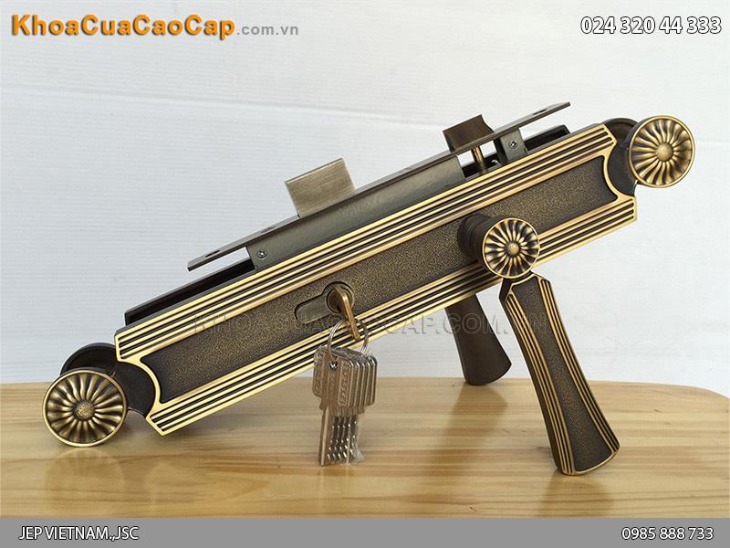 Khóa tay gạt bằng đồng cho cửa gỗ SFA8521-XL-SF