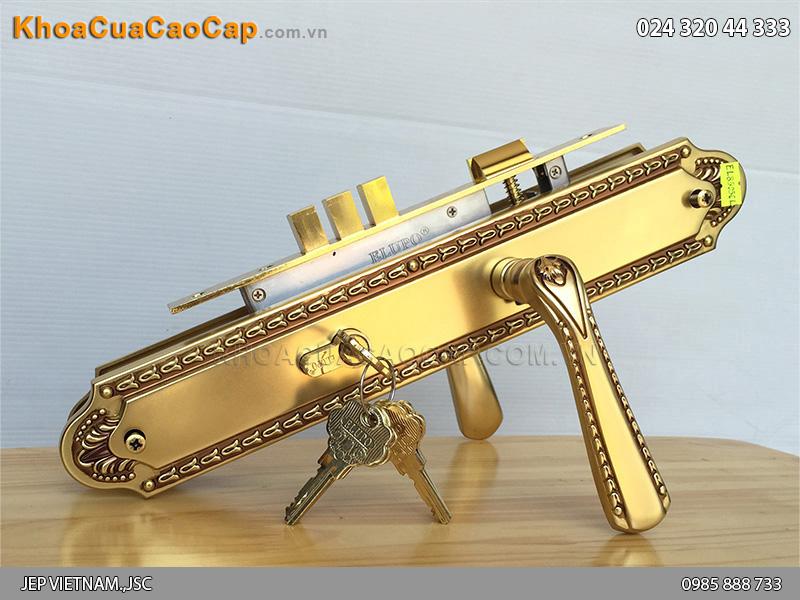 Khóa tay gạt cửa chính đồng vàng EL8505-01CL