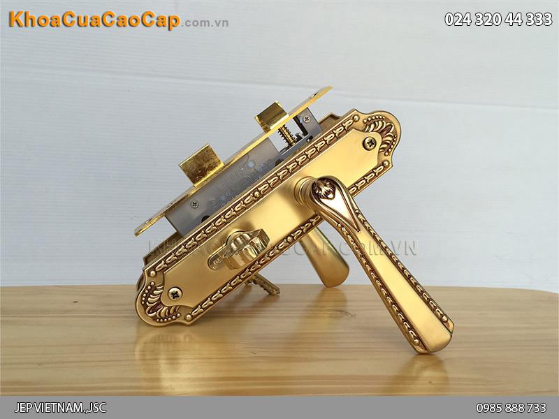 Khóa tay gạt thông phòng đồng vàng EL5805-01CS