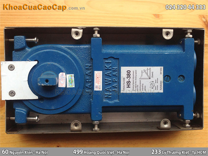 Bản lề sàn tải trọng nặng nawaki HS380Z - 2