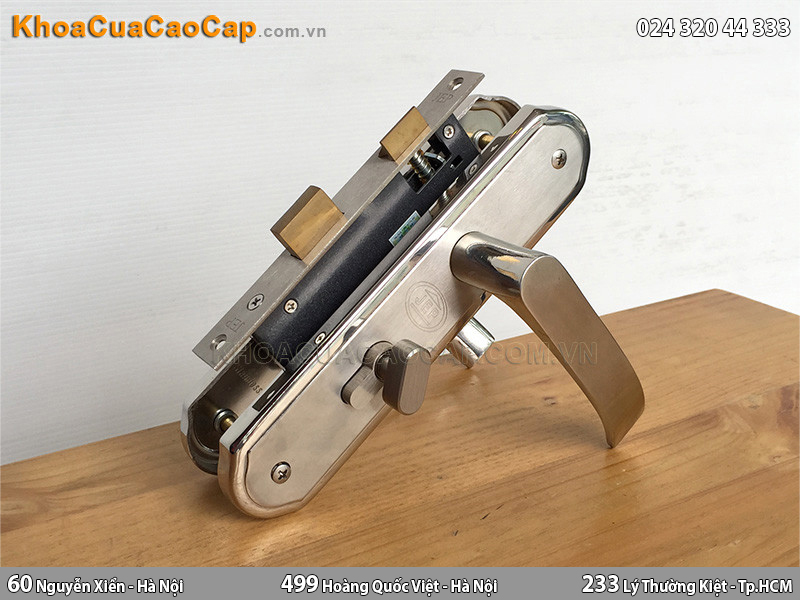 Khóa cửa gỗ tay gạt MC22 - 1