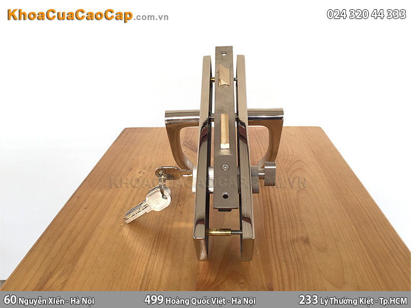 Khóa cửa gỗ tay gạt MC41 - 3