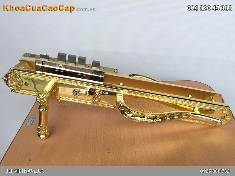 Khóa cửa đại sảnh bằng đồng mạ vàng JP-005-18K - 5