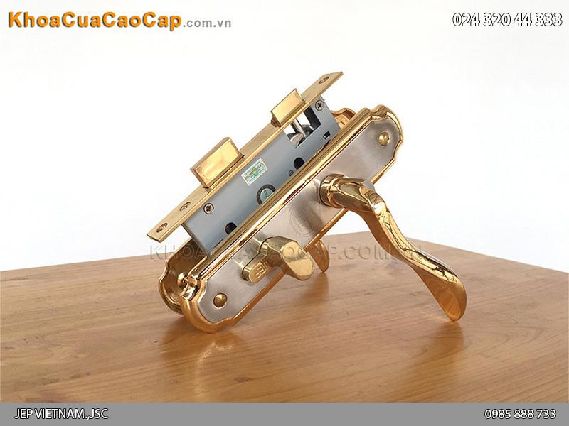 Khóa tay gạt bằng đồng mạ vàng 24K Goal58PS - 6
